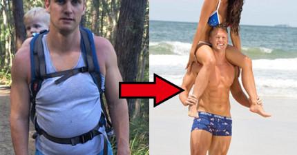 這位5個孩子身材走樣的老爸,是怎麼在短短7週就將肥胖鮪魚肚練成精美6塊肌?!