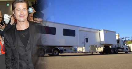在布萊德彼特要價3200萬的「拖車」裡頭,極盡奢華設備會讓你血壓瞬間飆高!