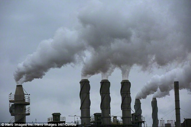 Countries emitting carbon dioxide and other gases (stock image shown) are transforming Earth's climate in a dangerous way, according to the BAS, leaving millions vulnerable to rising sea levels, famines and 'killer storms.'The BAS want to see action taken to cap greenhouse gases to 2°C above pre-industrial levels