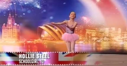 評審以為10歲小女生要跳芭蕾舞還想要打斷她,但當她一開口的時候,全場陷入瘋狂!