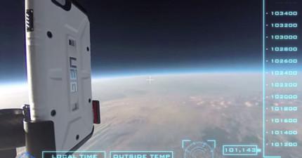 其他手機測試都閃邊站,因為他們把iPhone6從外太空邊緣丟下來了...