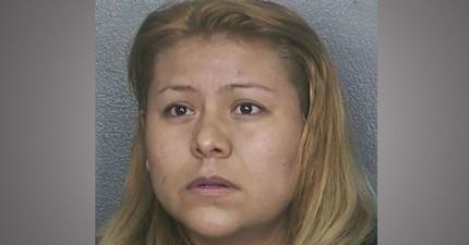 這名女扒手為了逃脫,竟將最噁心的東西塗在警衛的臉上!