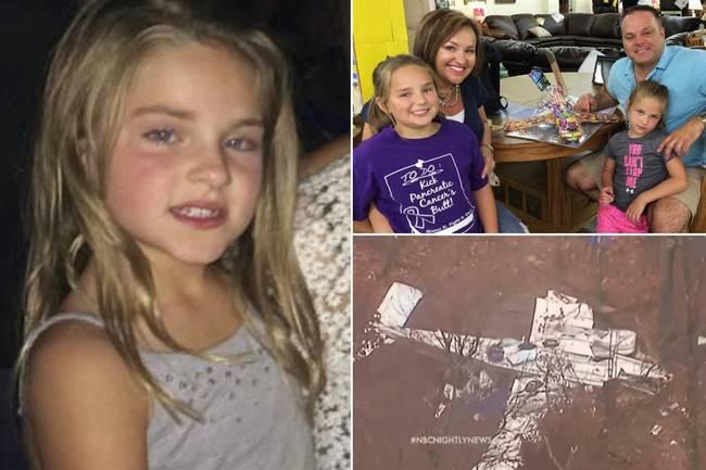 Larry老先生表示:「我來到門口,看到了一個7歲的小女孩,鼻子、手臂上都是血液,只有一隻襪子、沒有鞋子,不停哭泣。她說她爸媽都過世了,他們的飛機上下顛倒地墜毀了。」
