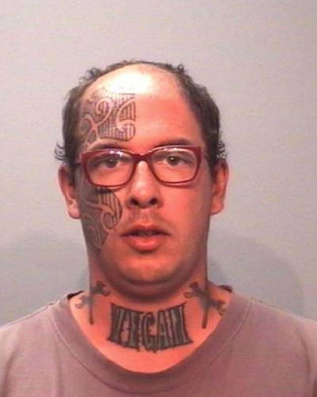 21張最駭人的刺青嫌疑犯照片,讓電影裡的壞人看起來像是小兒科!