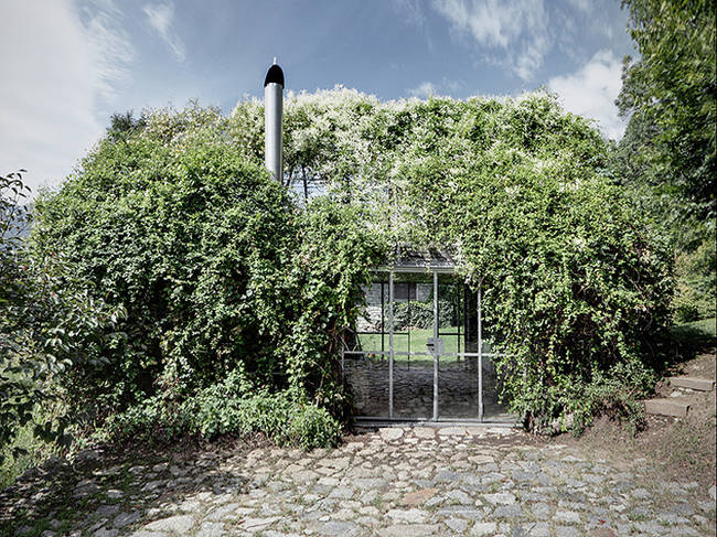 <p>The vines cleverly disguise the house among the natural setting. It's like a gillie suit for your home. </p>