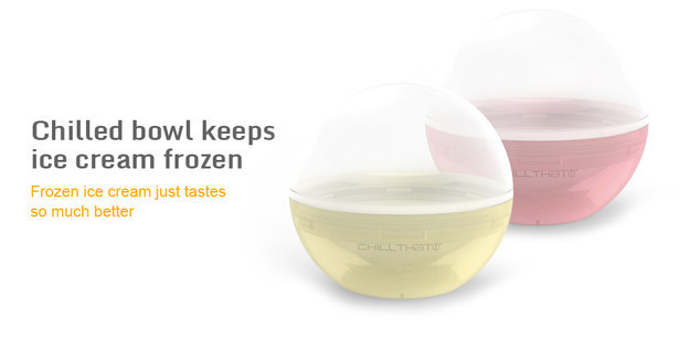 The perfect ice cream bowl to use on a hot day, ChillTHAT keeps things frozen.