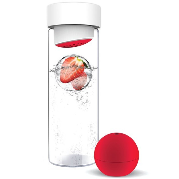 "Buy a Fruit Iceball Maker And Water Bottle (because in the future, ""normal"" ice cubes are obsolete)."