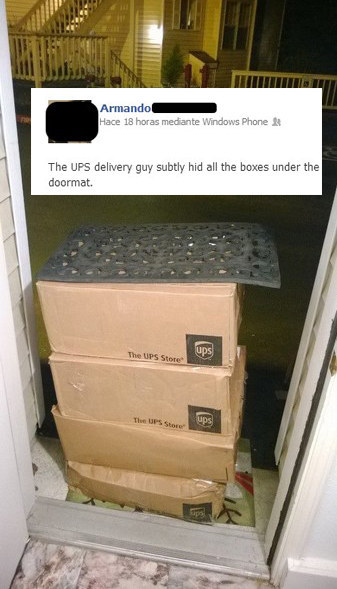 When this delivery driver nailed it.