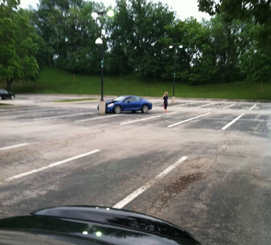 When this completely unavoidable accident proved the risks of empty car parks.