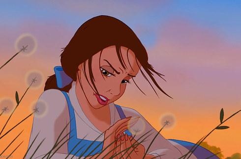 迪士尼公主的「真實髮質」 風一吹...寶嘉康蒂直接披頭散髮
