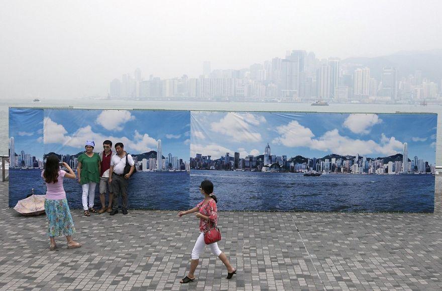 Fake Hong Kong Skyline For Tourists