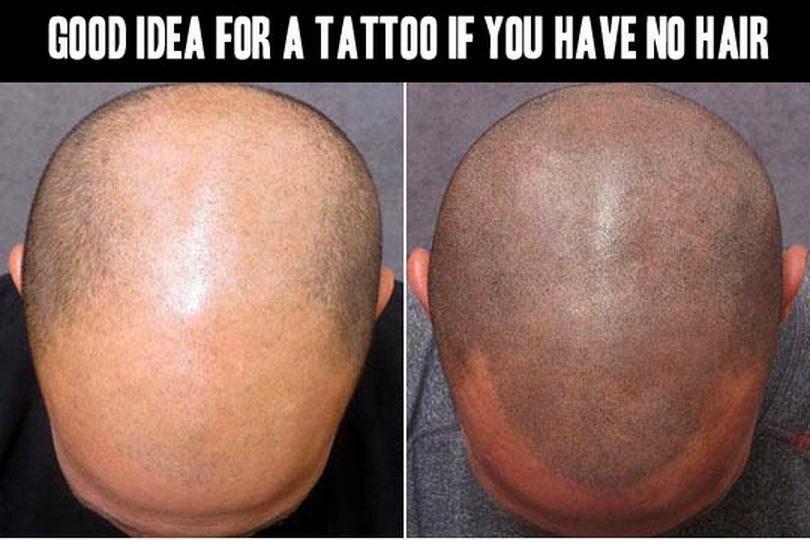 聰明絕頂的刺青。