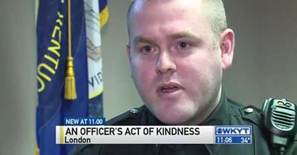 在發現竊賊是幫小寶寶偷奶粉的單親爸爸後,這位警員做出了令所有人起身鼓掌的事情。