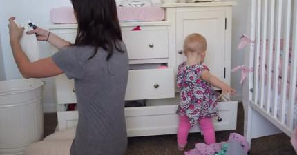 媽媽做事一點效率都沒有,這支影片就是最可愛的證明。