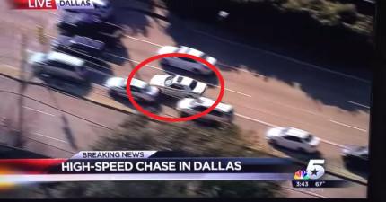 歹徒在一場驚險追車中撞上前面的廂型車,結果裡面的暴怒母親跑出來把歹徒毆倒。