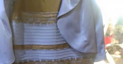 這件洋裝造成了全網路前所未有的最激烈討論。你看到這件洋裝是什麼顏色?