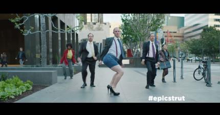 這個男人在省了一點錢之後,在街上跳了一個讓所有人眼珠快爆出來的舞。