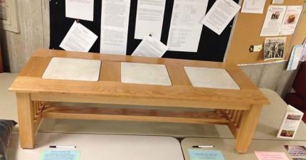 這張桌子背後的故事會告訴你沒有什麼事情是不可能的。