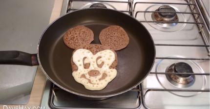 喜歡吃米老鼠嗎?來學會怎麼簡單做出米老鼠鬆餅!