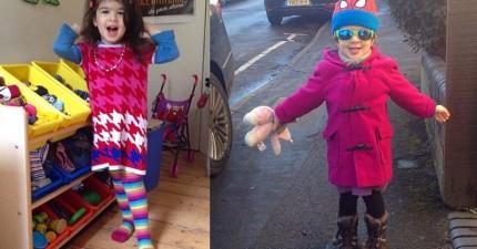 看不慣社會的男女刻板印象,這位爸爸讓3歲女兒自己選擇想要的穿搭!