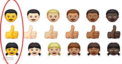 蘋果新推出了多元膚色的表情符號,但竟出現超亮色「黃種人」被使用者罵個臭頭!