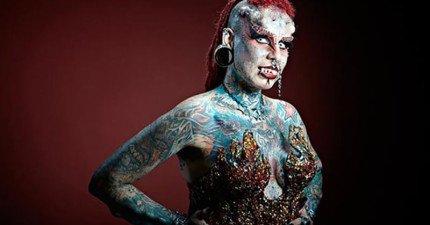 這位身體藝術家的外型雖然駭人,但在這個外表下卻有個動人的故事!