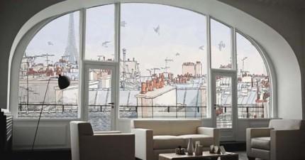 25個超另類的壁紙樣式,讓你家瞬間飛到海邊、巴黎、或倫敦!