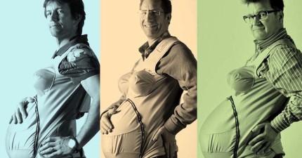 這3位爸爸裝上「孕婦套裝」親身體驗懷孕9個月有多難捱!甚至還難受到要上藥局攤開肚子求助。
