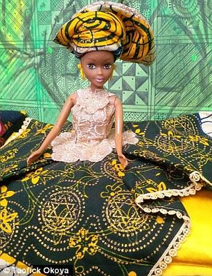 他找不到黑芭比娃娃買給姪女,因此他不放棄決定自己做。結果現在賣翻了!