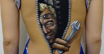 這名人體彩繪家已經受夠了業界的人都只用PS修改圖片,因此她創造了這些讓人渾身起雞皮疙瘩的精彩創作。