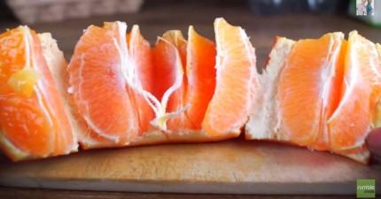 剝橘子常常噴得到處都是嗎?你該換用這招快速又簡單的神技巧了!