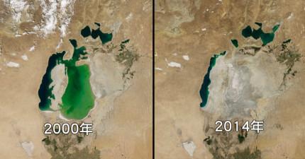 9張美國太空總署公開的地球環境對比圖,讓你不得不正視環境變遷的恐怖。