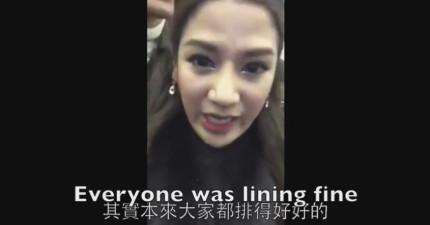 這個泰籍美女在韓國玩但一點都不開心,因為旁邊大陸客做的事情讓她快爆炸了!