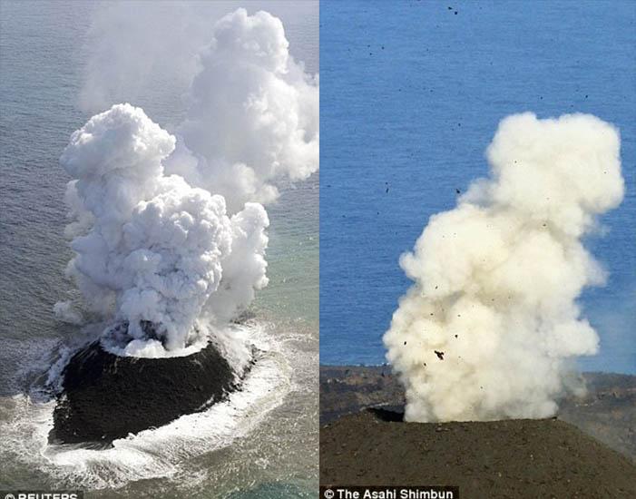 日本火山爆發