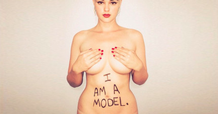 這位美麗模特兒居然被視為是加大尺寸!?就連她本人也相當難以置信...!