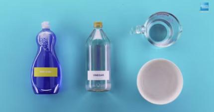 只用洗碗精、白醋、水,你就可以解決人生中其中最惱人的難題!