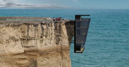 這間豪宅能坐擁窗外180度豪華海景,但前題是你要敢住在它極端的地點才行。