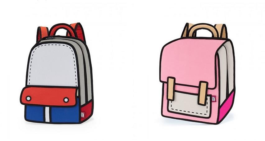 這些卡通包包要把你的眼睛騙得團團轉...讓你分不出是在卡通還是現實世界!