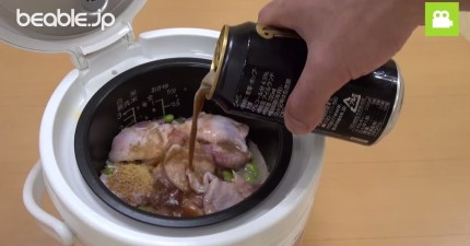 把啤酒倒進飯鍋裡...最美味的雞肉飯就誕生了!