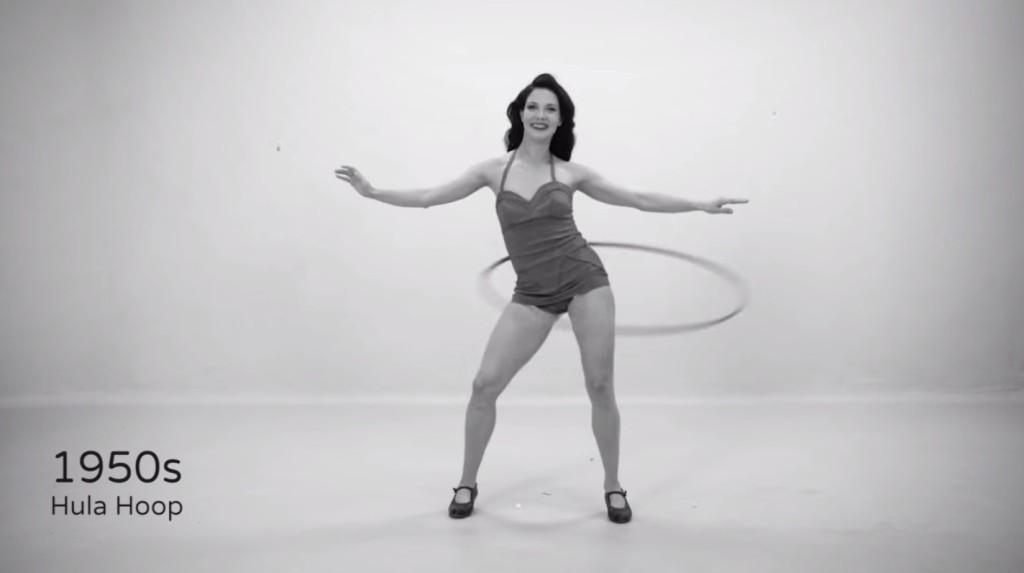 100年來女性健身的流行趨勢濃縮在一分鐘影片裡...原來呼拉圈當年這麼紅啊!?