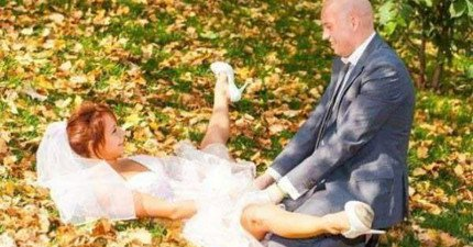 27張已經超越人類理解範圍的荒謬婚紗照