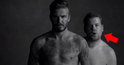 男神貝克漢再推出性感破表的內褲廣告,只是...真正的亮點是他後面的胖哥!