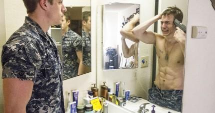 在軍人正氣凜然的外表下,這位攝影師記錄下他們退休後最真實的心理黑暗面。