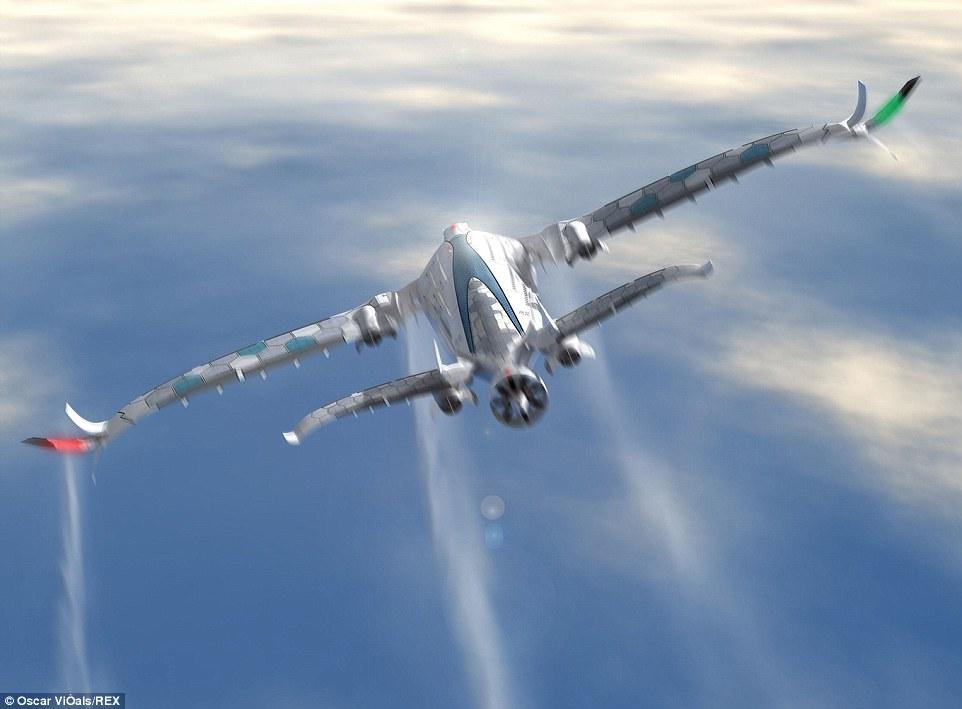 西班牙設計師Viñals告訴我們2030年的飛機有多酷?裡面有3層機艙而且...長得像一個巨大的鯨魚!