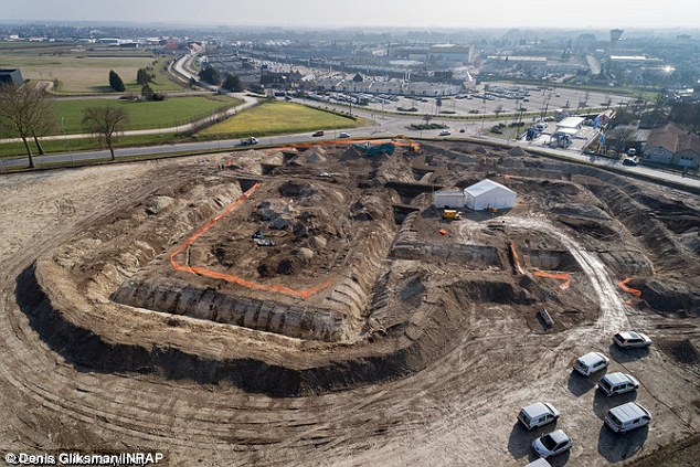 An Iron Age Celtic prince lay buried with his chariot at the center of this huge mound in the Champagne region of France, according to the country's National Archaeological Research Institute (Inrap)