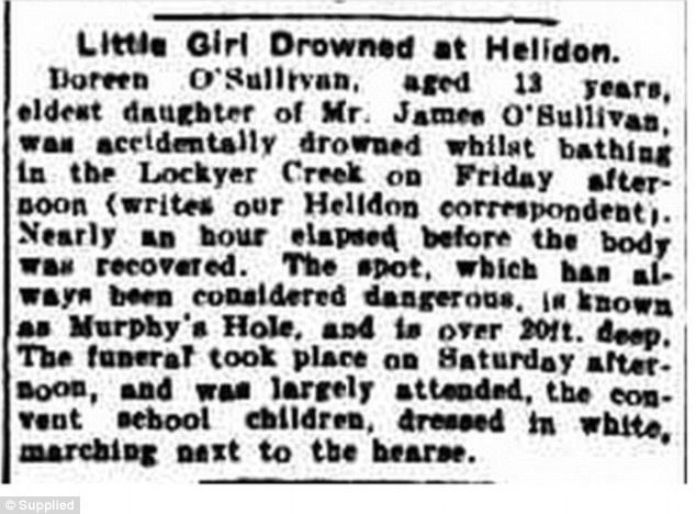 而就是这么不巧,就在同一个地方,在100年以前就有个小女孩死在这里。