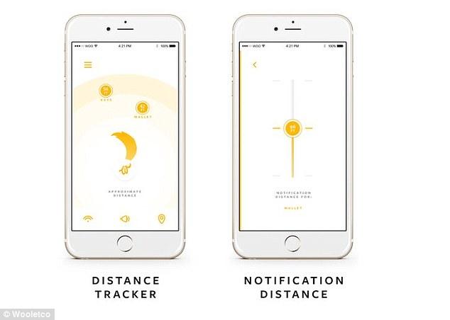 如果皮夾忘了拿,你的手機會用震動或吠的方式提醒你。內建可客製化的距離追蹤器可以讓你知道皮夾到底在哪裡。