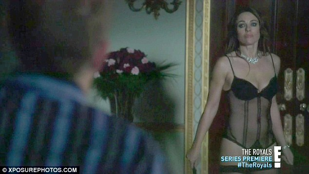Looking good: The actress is seen in just a sheer basque in one scene, already previewed by E!