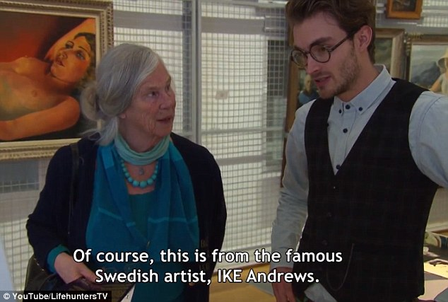 Joke: Presenter Boris Lange told visitors the 'painting' was done by famous Swedish artist 'IKE Andrews' and say everyone of the nearly 20 people interviewed bought the lie