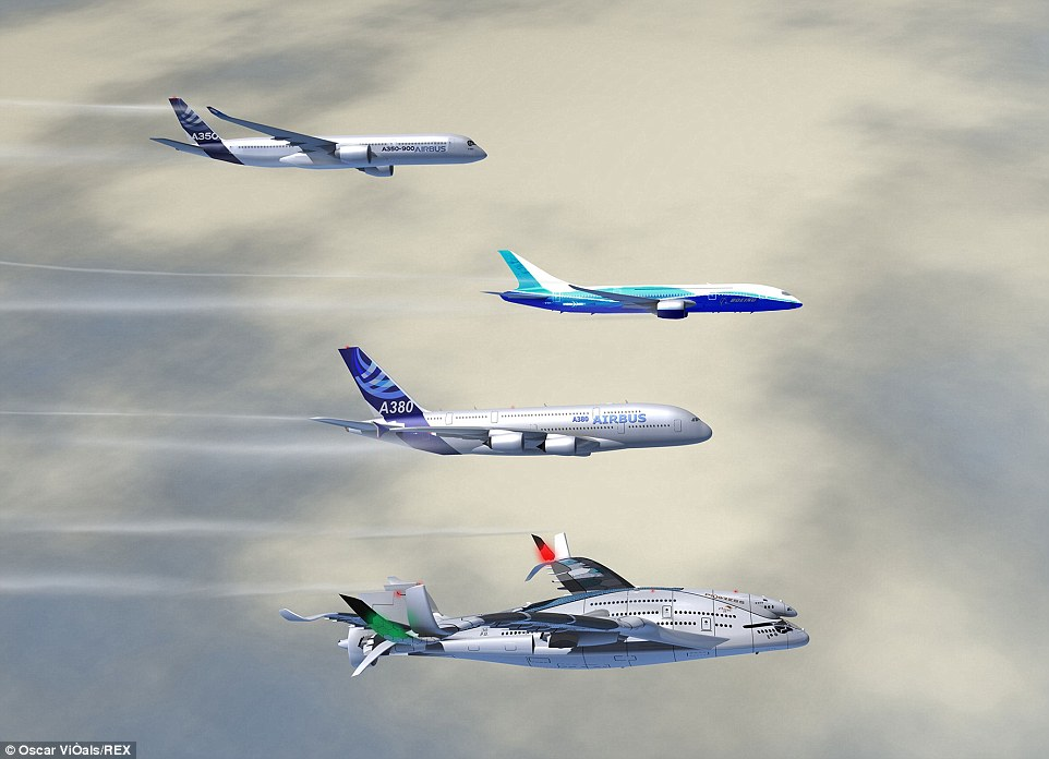 The image above shows how, if it was to be built, the new Progress Eagle, would dwarf even the largest airliners used to carry passengers today